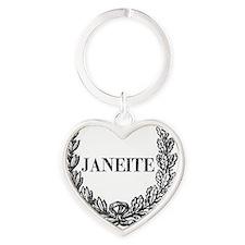 janeite button ornate Heart Keychain