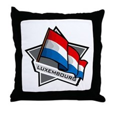 """Luxembourg Star Flag"" Throw Pillow"