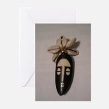 The Cowrie Mask Greeting Cards (Pk of 10)