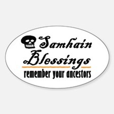 samhain one Oval Bumper Stickers