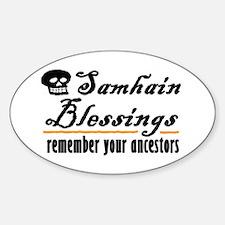 samhain one Oval Decal