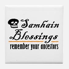 samhain one Tile Coaster