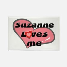 suzanne loves me Rectangle Magnet