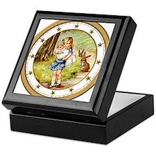 CLOCK Alice  the Pig Baby Gold Star Keepsake Box