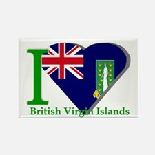 I love Virgin Islands Rectangle Magnet