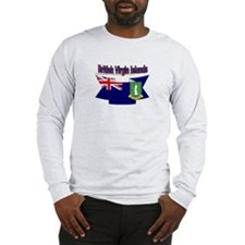 The British Virgin flag ribbon Long Sleeve T-Shirt