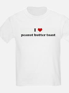 I Love peanut butter toast Kids T-Shirt