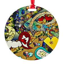 ZazzleRetro60sCycleOfLife-2Moon Ornament