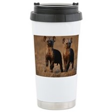 Two spotted hyena pups (Crocuta Ceramic Travel Mug