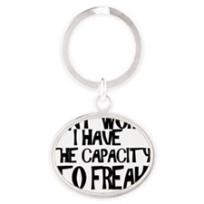 DONT WORRY Oval Keychain