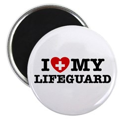 I Love My Lifeguard Magnet