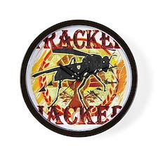 tracker jacker black letters hunger gam Wall Clock