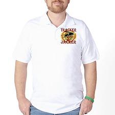 tracker jacker black letters hunger gam T-Shirt