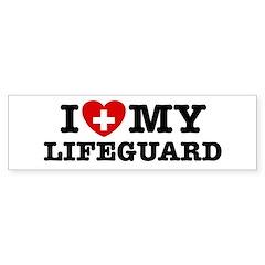 I Love My Lifeguard Bumper Bumper Sticker