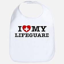 I Love My Lifeguard Bib