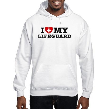 I Love My Lifeguard Hooded Sweatshirt