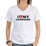 I Love My Lifeguard Women's V-Neck T-Shirt