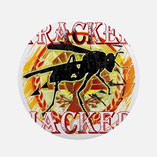 tracker jacker with white letters h Round Ornament