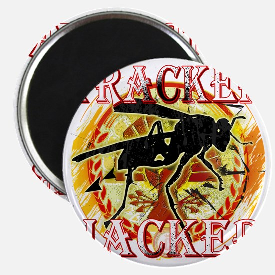 tracker jacker with white letters hunger ga Magnet