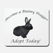 Black Bunny Hugger Mousepad