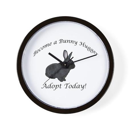Black Bunny Hugger Wall Clock