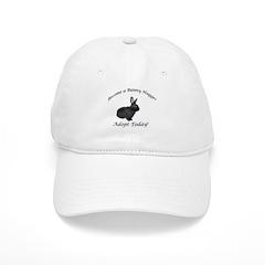 Black Bunny Hugger Baseball Cap