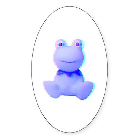 3-D Frog Oval Sticker