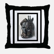The (Male) Mask/Mask Throw Pillow