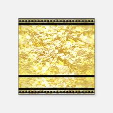 "goldpatternshowerduvet Square Sticker 3"" x 3"""