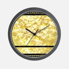 goldpatternshowerduvet Wall Clock