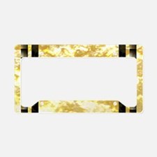 goldpatternpillowcase License Plate Holder