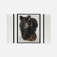 The (Female) Mask/Mask Rectangle Magnet