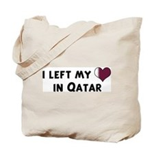 Left my heart in Qatar Tote Bag