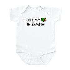 Left my heart in Zambia Infant Bodysuit