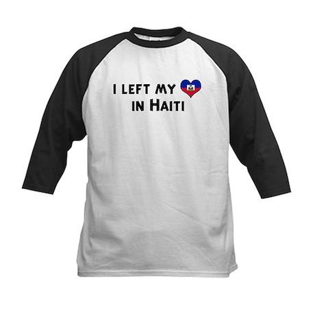 Left my heart in Haiti Kids Baseball Jersey