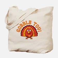 Gobble Tov Thanksgivukkah Turkey Tote Bag