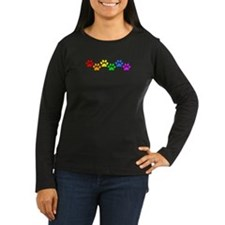 rainbow paws BLACK Long Sleeve T-Shirt