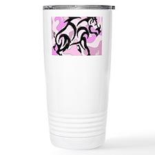 Pink Camo Tribal Boar Travel Mug
