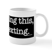 Reading and texting Mug