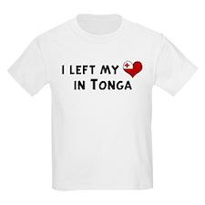 Left my heart in Tonga Kids T-Shirt