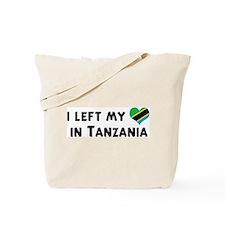 Left my heart in Tanzania Tote Bag