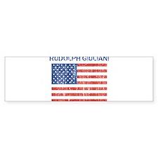 RUDOLPH GIULIANI (Vintage fla Bumper Bumper Sticker