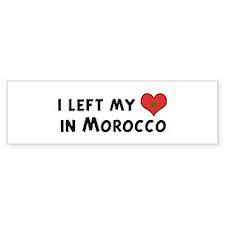 Left my heart in Morocco Bumper Bumper Sticker