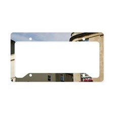 Corner of stone house with fl License Plate Holder
