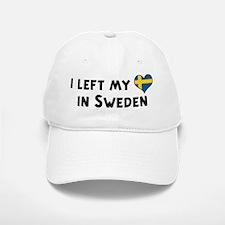 Left my heart in Sweden Baseball Baseball Cap
