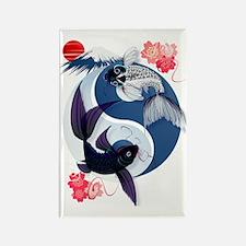 Yin Yang Koi Trans Rectangle Magnet