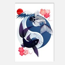 Yin Yang Koi Trans Postcards (Package of 8)