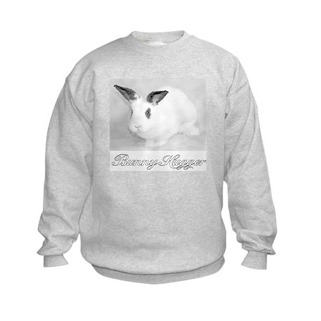 White Bunny Hugger Kids Sweatshirt