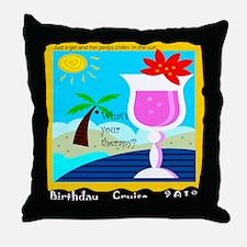 birthday cruise new Throw Pillow