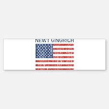 NEWT GINGRICH (Vintage flag) Bumper Bumper Bumper Sticker